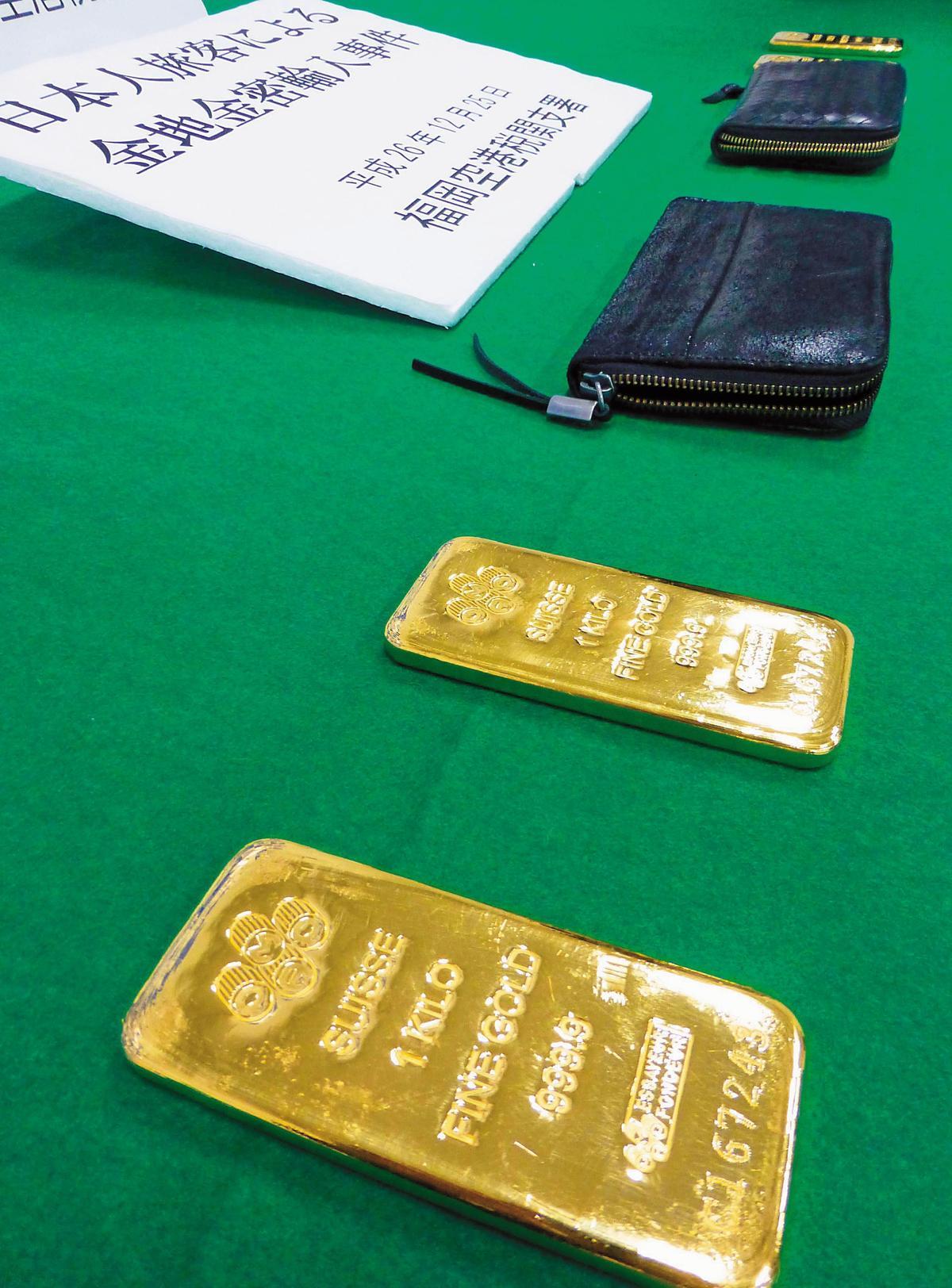 走私黃金進日本的利潤高,連日本黑道都覬覦,從香港走私金塊。(東方IC)
