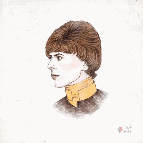 藝術家 Helen Green 為紀念傳奇搖滾樂手 David Bowie 設計的GIF,廣為流傳,但她在社交網路上並未獲得任何報酬。