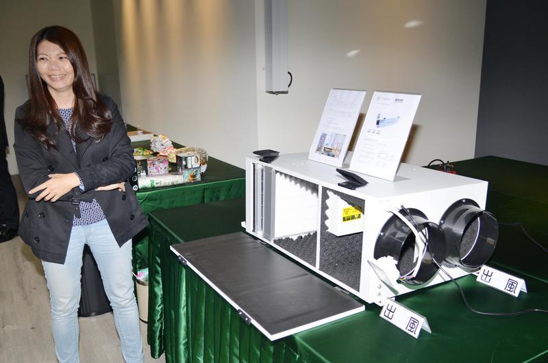 中電引進新風空氣清淨系統,透過多重濾網,過濾大面積室內新鮮空氣。(中電提供)