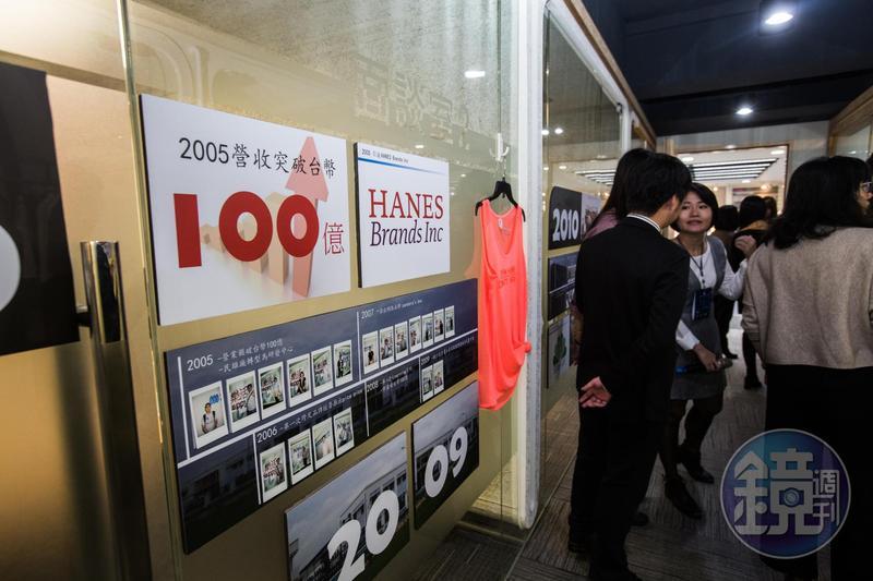 2003年聚陽股票上市,2005年營收便衝破百億元,打破外界對紡織業已是夕陽產業的印象。