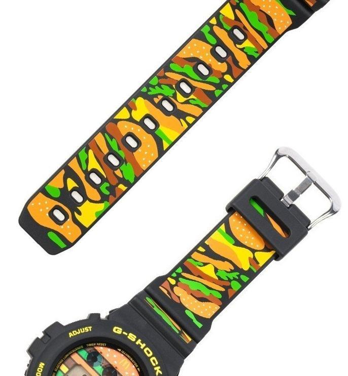 錶面、錶帶都以大麥克剖面配色,呈現繽紛元素。(翻攝自日本樂天官網)
