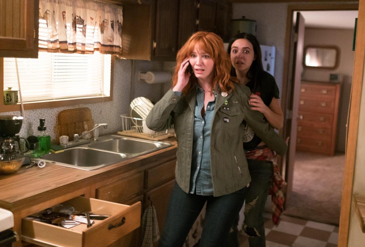 因為拍攝《只殺陌生人》時氣氛太過驚悚,害克莉絲汀娜很久都不敢去露營。(CatchPlay提供)