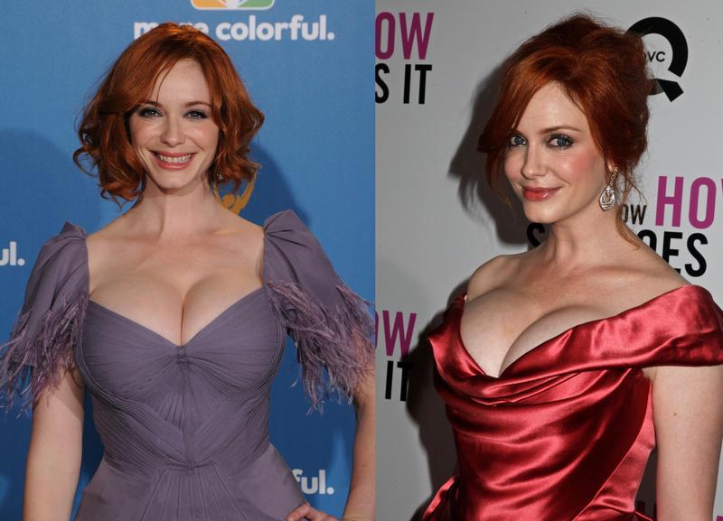 曾6獲艾美獎提名的克莉絲汀胸器驚人,穿起低胸禮服格外令人噴鼻血。(東方IC)