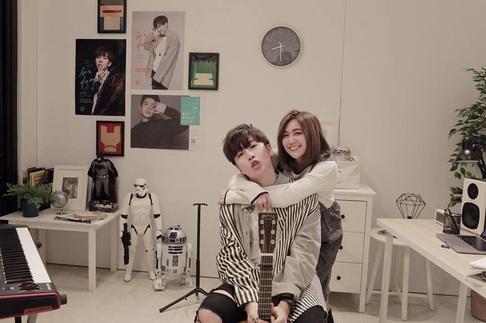 《 Never Let You Go 》找來好友安苡愛來擔任MV女主角。(李建軒提供)