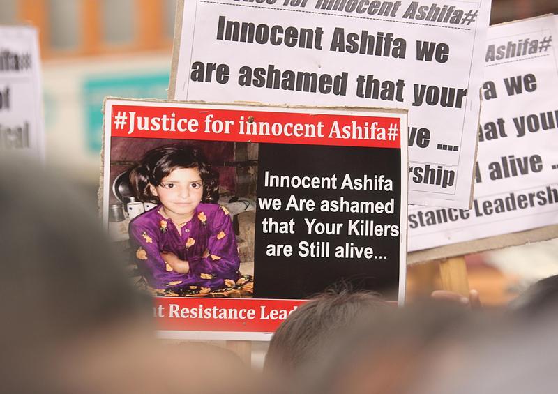 穆斯林女孩「艾絲法」遭姦殺案,反映出印度深層族群問題。(東方IC)