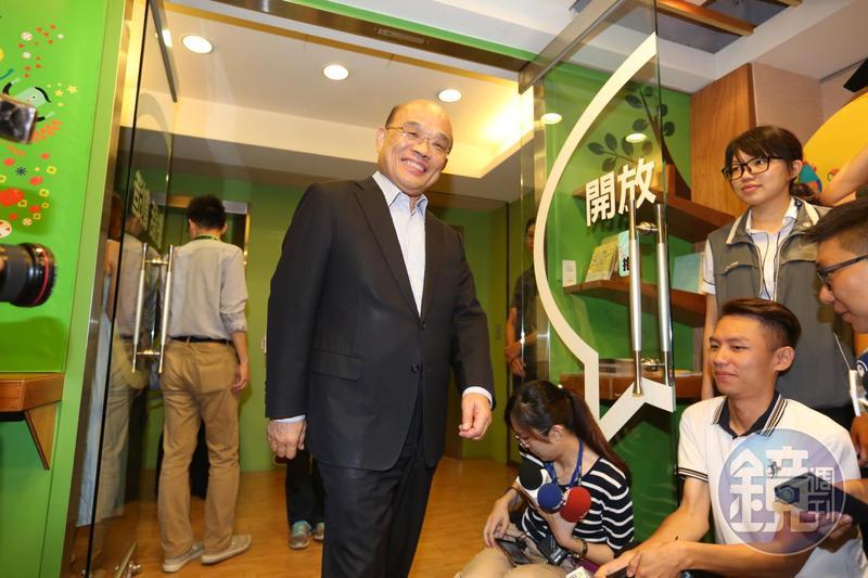 前行政院長蘇貞昌確定參選新北市長,而蘇明(14)日下午將啟動「訪老朋友談新希望之旅」。