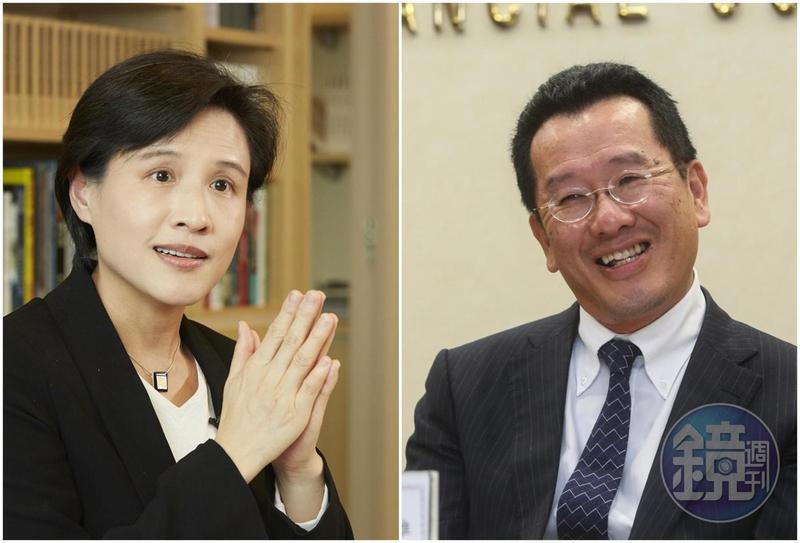 鄭麗君(左)與夫婿沈學榮名下財產暴增超過6億元;顧立雄(右)與妻子王美花去年購入土地2筆與建物7筆。