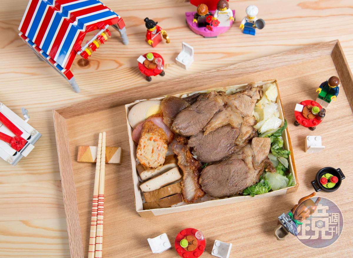 陳冠州只有午餐才出門買便當,便當沒有雞腿,倒是右下角有樂高烤雞小模型,目前市價1000元。