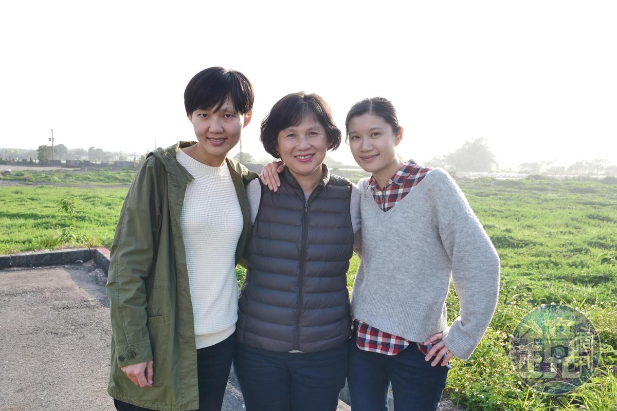 顧瑋(左)、陸莉莉(中)和馮忠恬(右)是一支女力找米獵人。