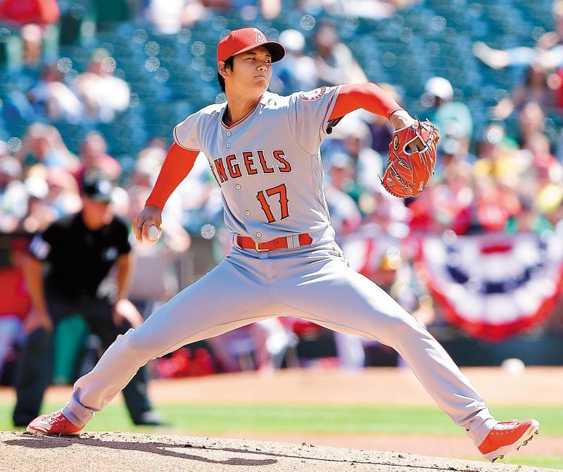 來自日本的大聯盟球員大谷翔平,能投擅打,在美國掀起轟動。(東方IC)