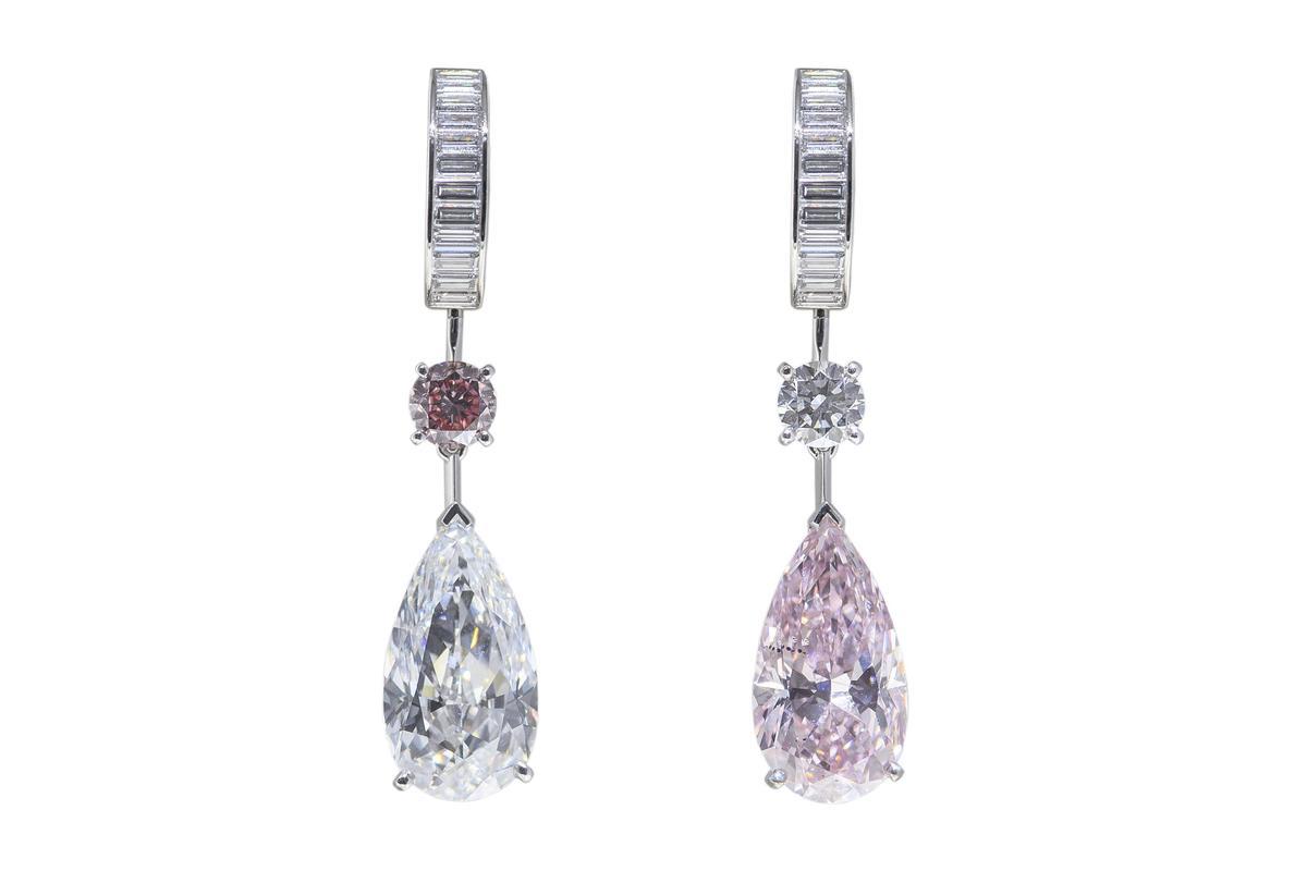 全展單件價值最高作品Pink Echo粉紅鑽耳環,價格高達3.73億元。
