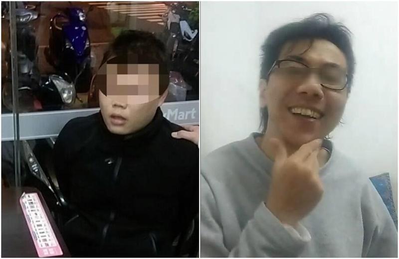 徐引力(左)被捕後,冤家債主(右)在臉書直播,還揶揄要送肥皂給他。(警方提供、翻攝臉書)