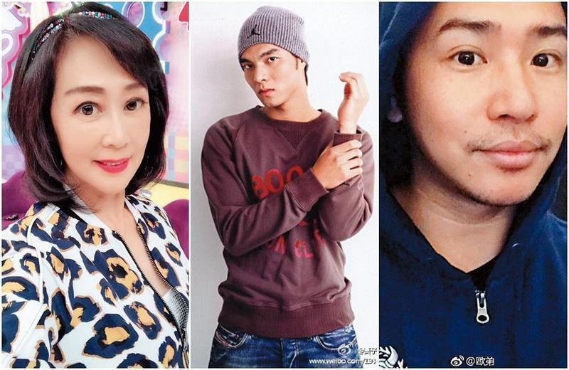 粘嫦鈺(左起)、黃子齊和歐漢聲都曾因為爆料而惹禍上身。