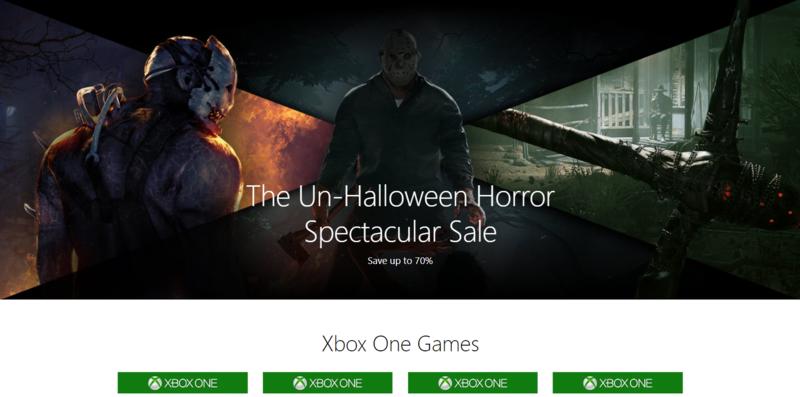 微軟的非萬聖節大甩買,對,不是萬聖節,也可以賣。(翻攝自Xbox.com)