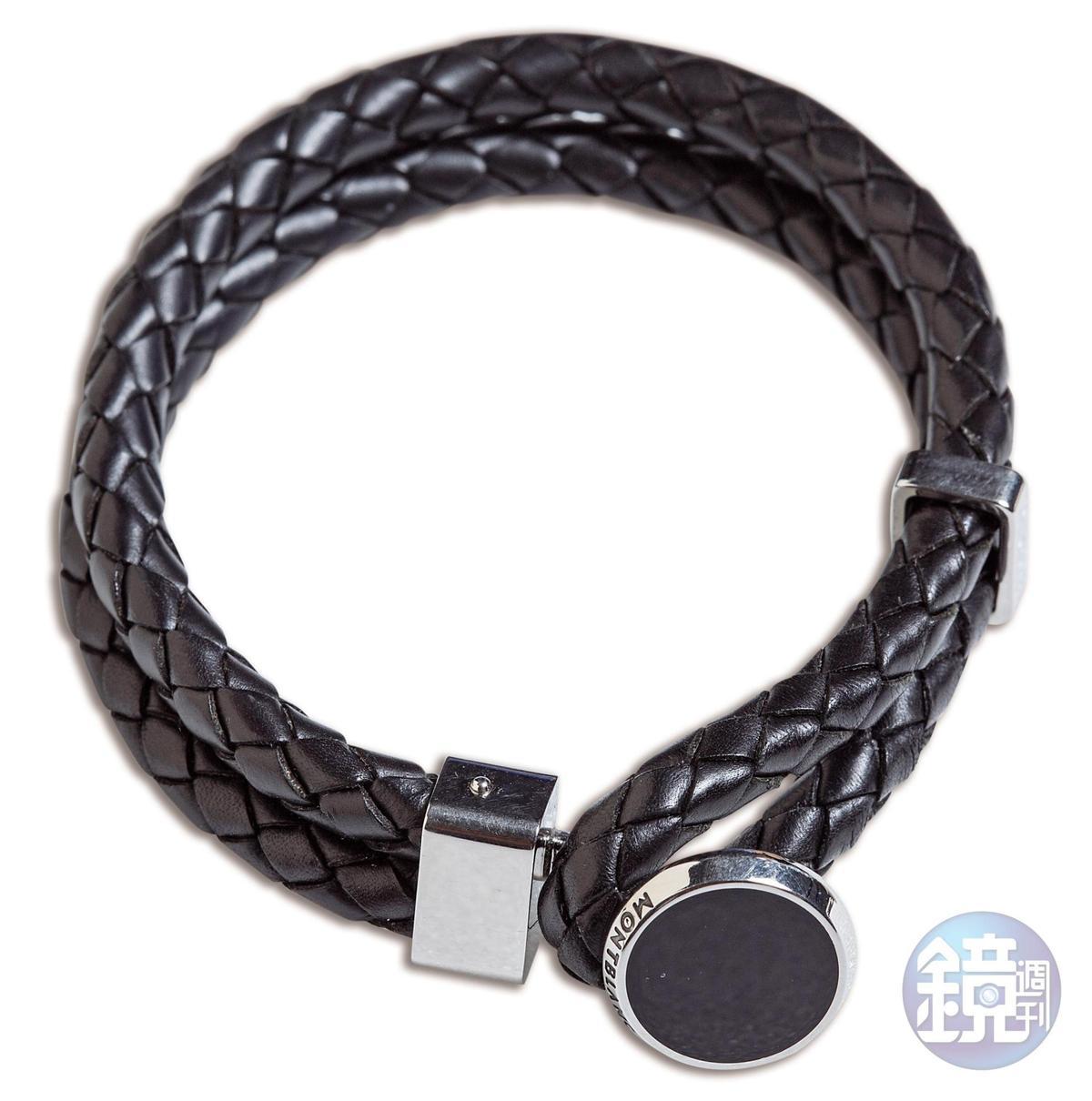 MONTBLANC編織手環,約NT$12,000。