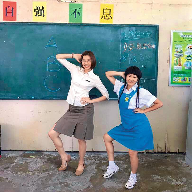 黃之豫(左)在馬來西亞發展5年,熱愛演戲的她不介意演醜角。(黃之豫提供)