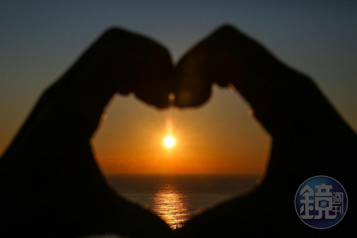 不少家人、情侶都會在正東津一起迎接美麗的曙光。