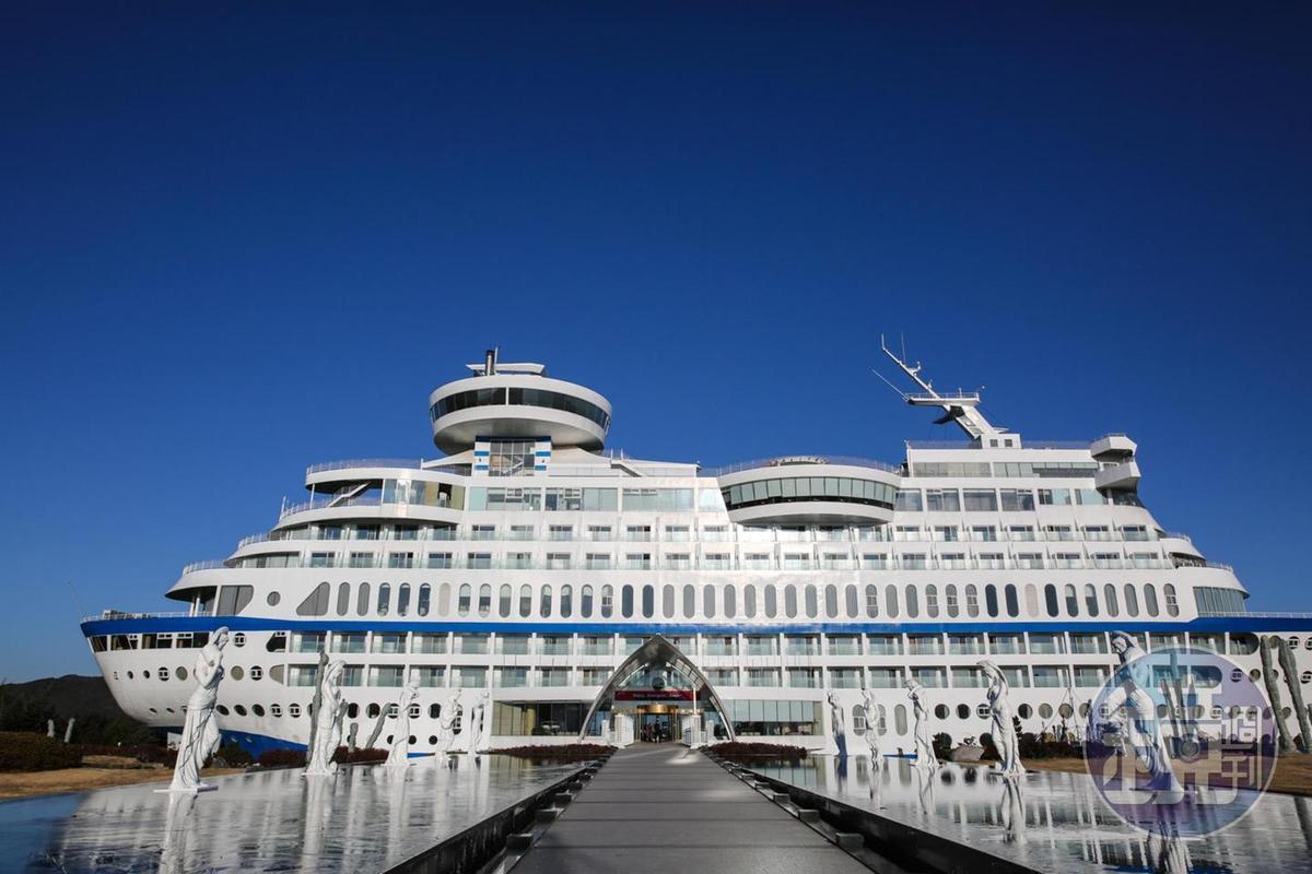 以遊輪為主題的飯店,是迎接正東津日出的VIP位置。