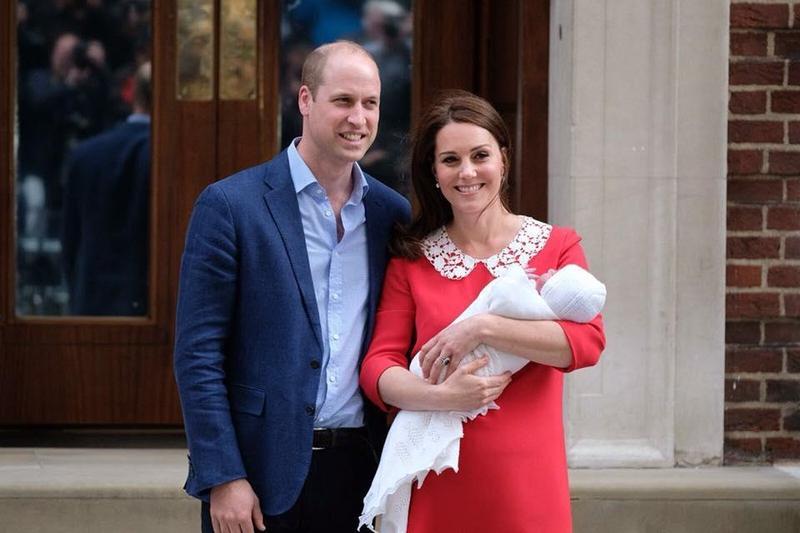 英國凱特王妃產下重達3827克的小王子。(翻攝自臉書)