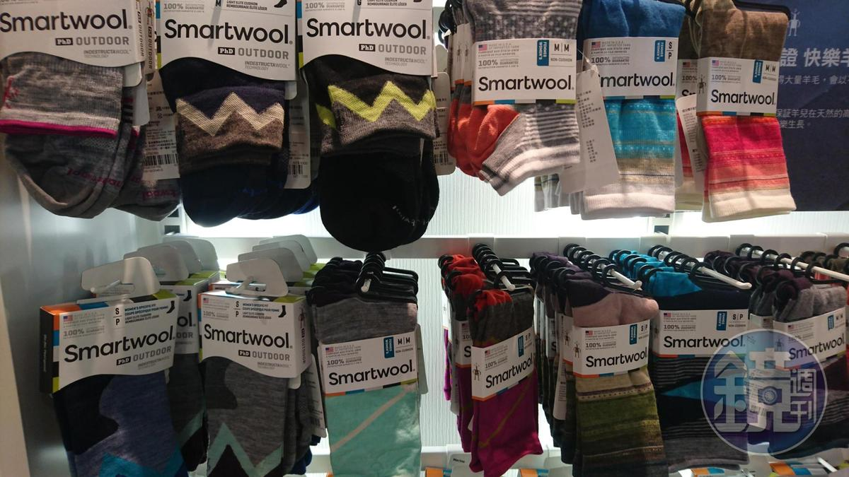Smartwool登山羊毛襪,一向受山友喜愛。