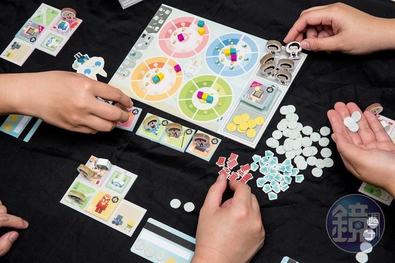 四合願與大玩桌遊合作,將下載超過300萬人次的APP《記帳城市》進行桌遊化。