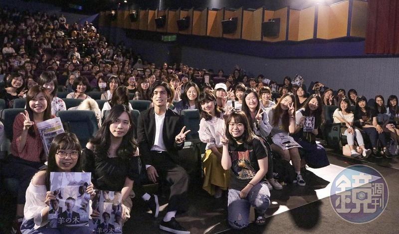 日本人氣男星錦戶亮今午為新作《羊之木》出席4場特別放映暨見面會。(天馬行空提供)