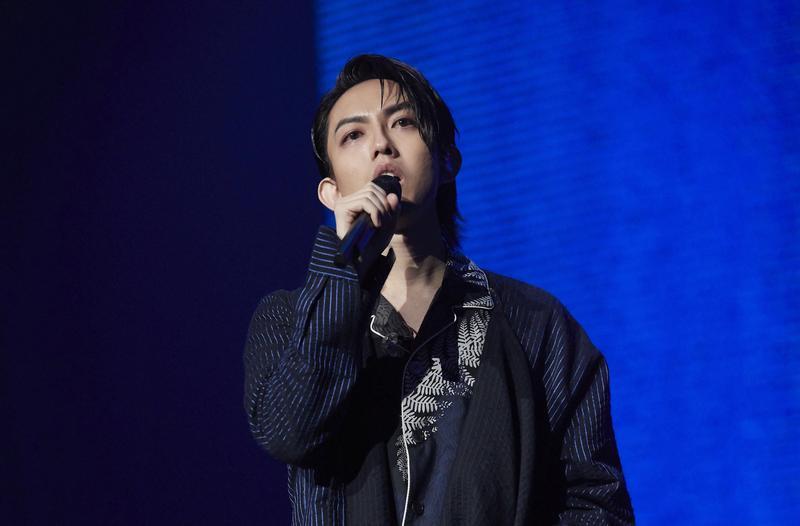 林宥嘉《THE GREAT YOGA》演唱會上,淚憶阿公。(華研提供)