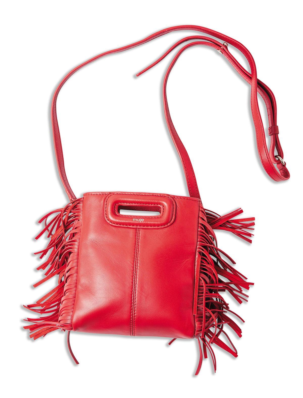 MAJE紅色流蘇包。NT$8,120