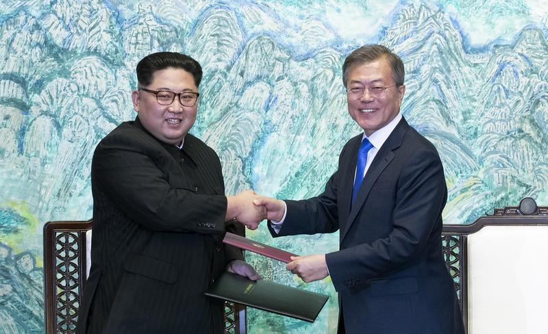 北韓去年還拚命放飛彈、試核彈,今年就與南韓簽署和平協議,讓人料想不到。(翻攝網路)