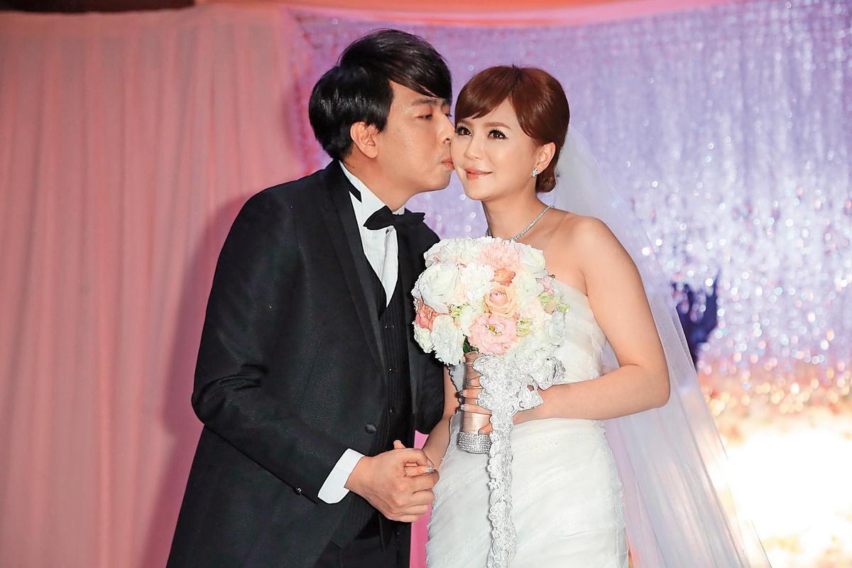 梁赫群與交往近3年的Stacey結婚,情場浪子收心成戀家好男人。(東方IC)
