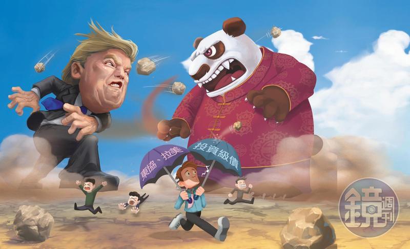 中美貿易戰硝煙四起,全球股市呈現劇烈震盪,投資人要善用投資組合保護資產。