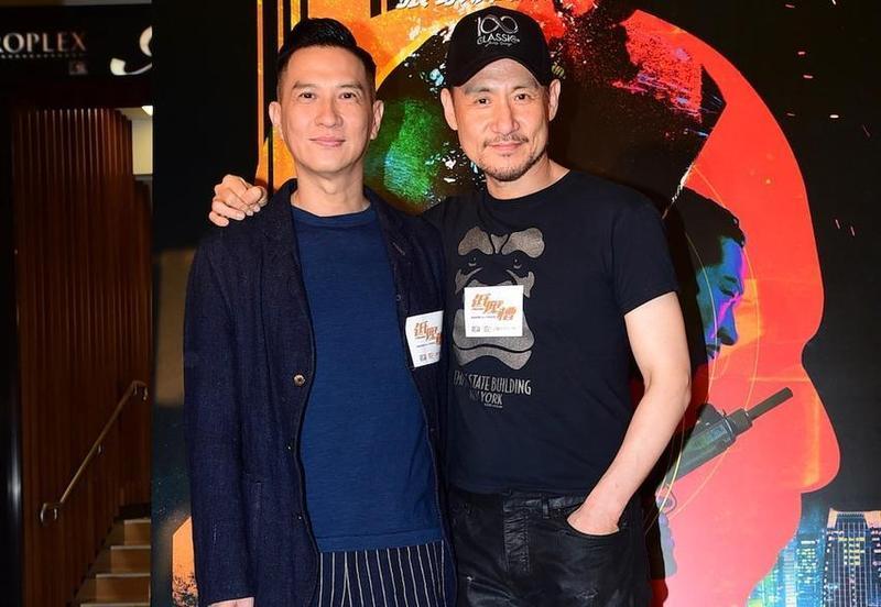 張學友才完成台北6場演唱會,回到香港後馬上被張家輝揪來參加他自導自演的《低壓槽》首映。(華映提供)