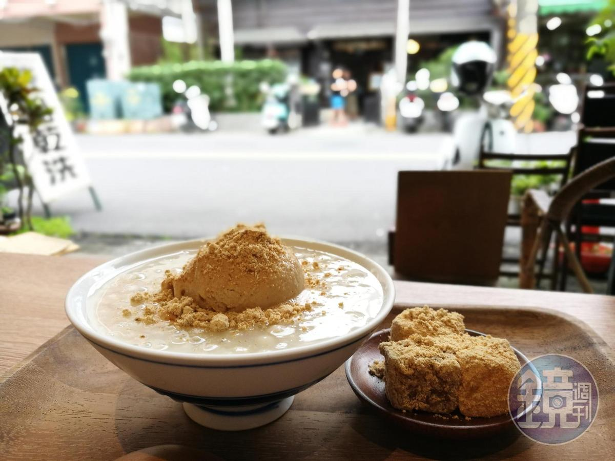 散發自然豆香的「路過・小亀有」甜品,吃來舒服爽口。