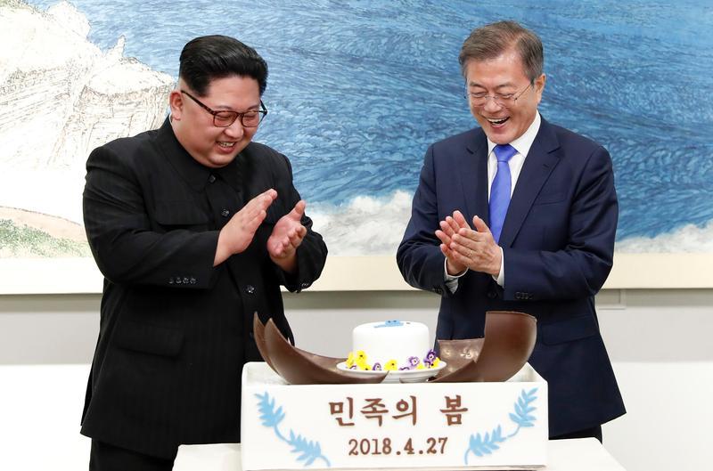 南北韓時間在北韓時間5月4日深夜11點30分正式統一了。(東方IC)