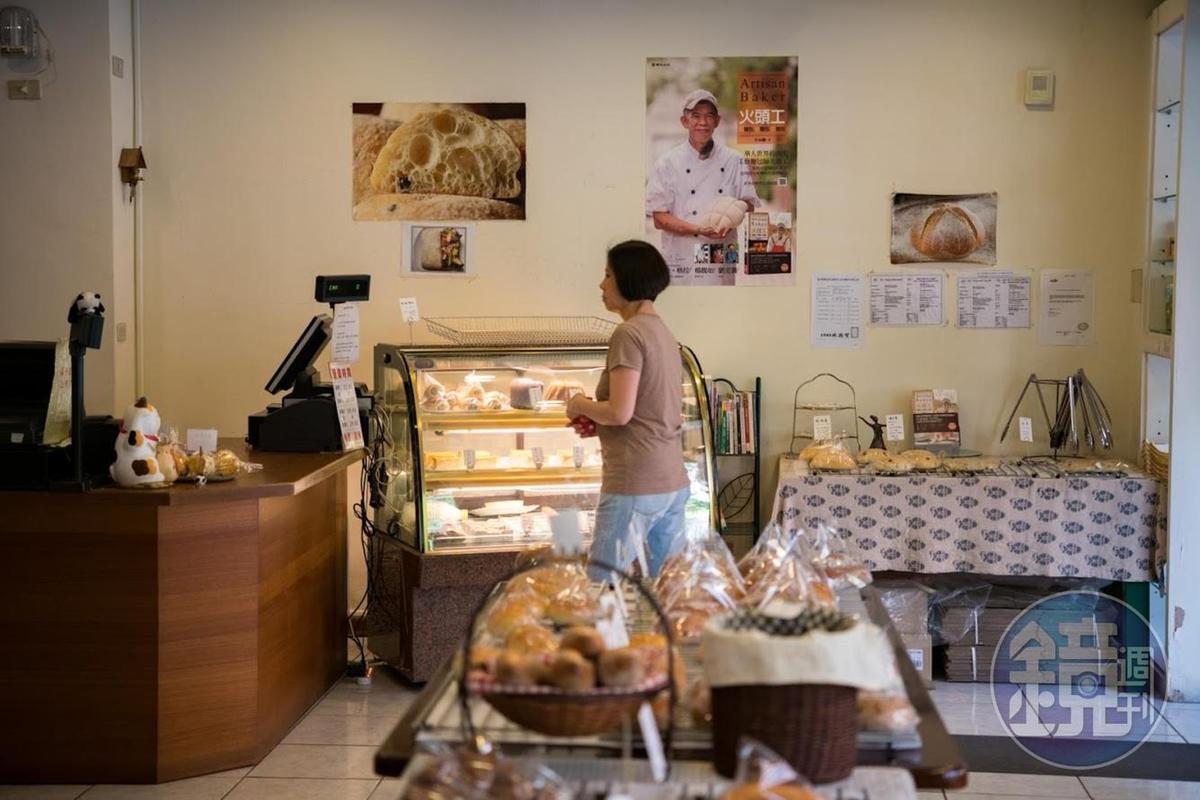藏身在住宅社區裡的阿段烘焙,顧客多數為附近的居民。