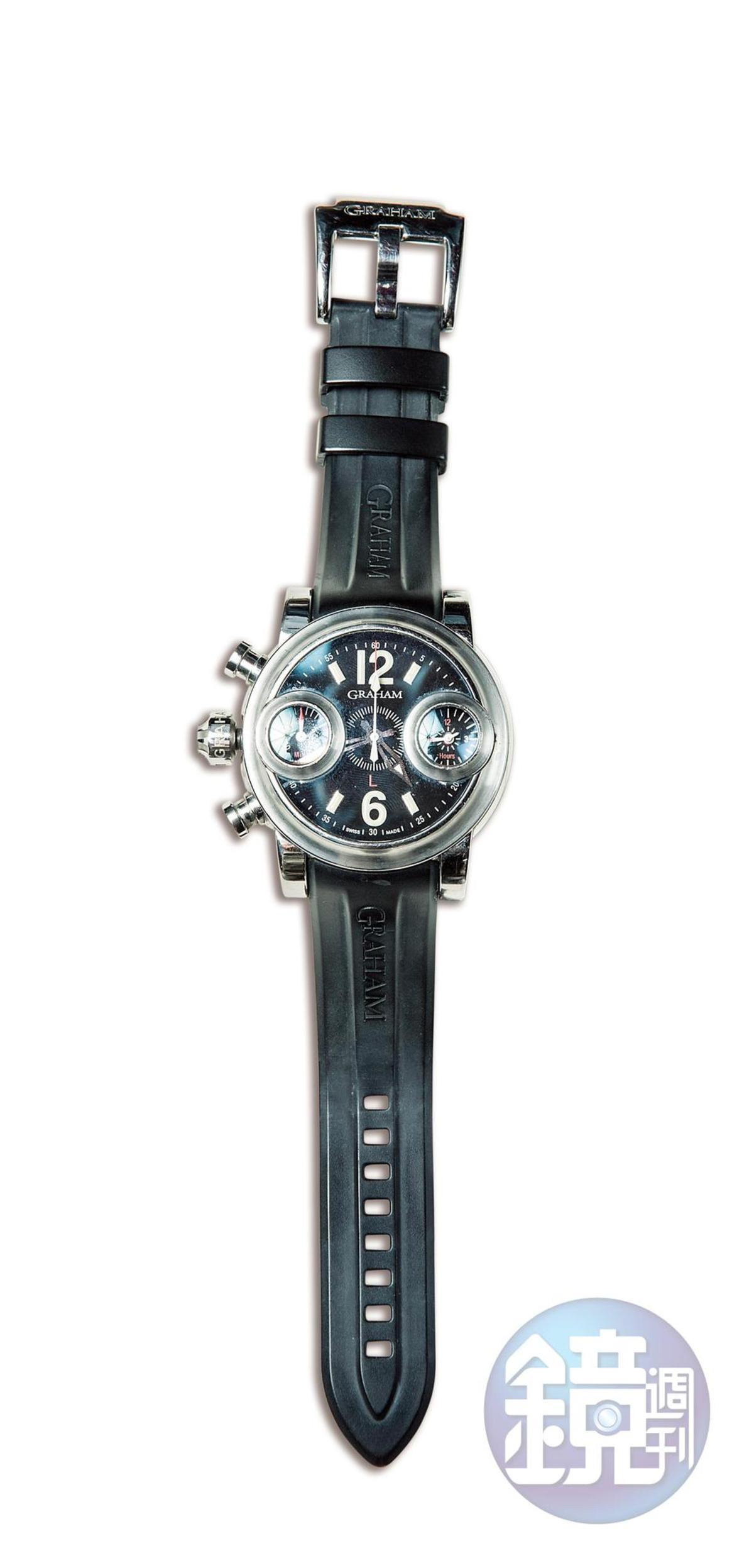 GRAHAM腕錶,約NT$180,000。