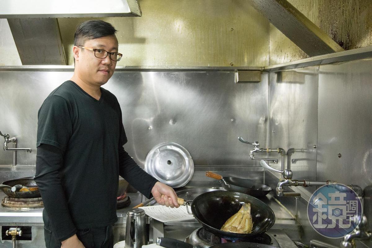 陳宜呈就是主廚,所有菜色都由他親自料理。