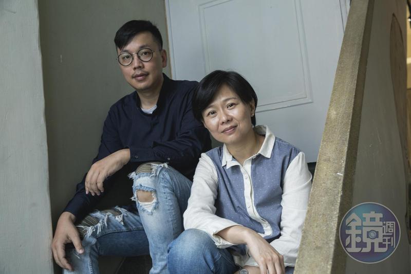 姜秀瓊(右)與侯季然獲邀執導《時光台灣》系列紀錄短片。(楊兆元攝影)