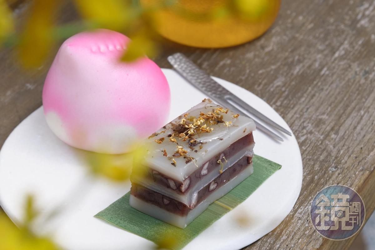 「茶食套餐」可組合桂花條糕、包子點心等不同甜食鹹點。(235元/份,含茶飲)