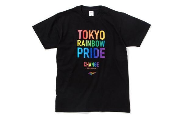 碧慕絲(BEAMS)支援東京同志遊行的T恤商品。(翻攝自日本碧慕絲官網)