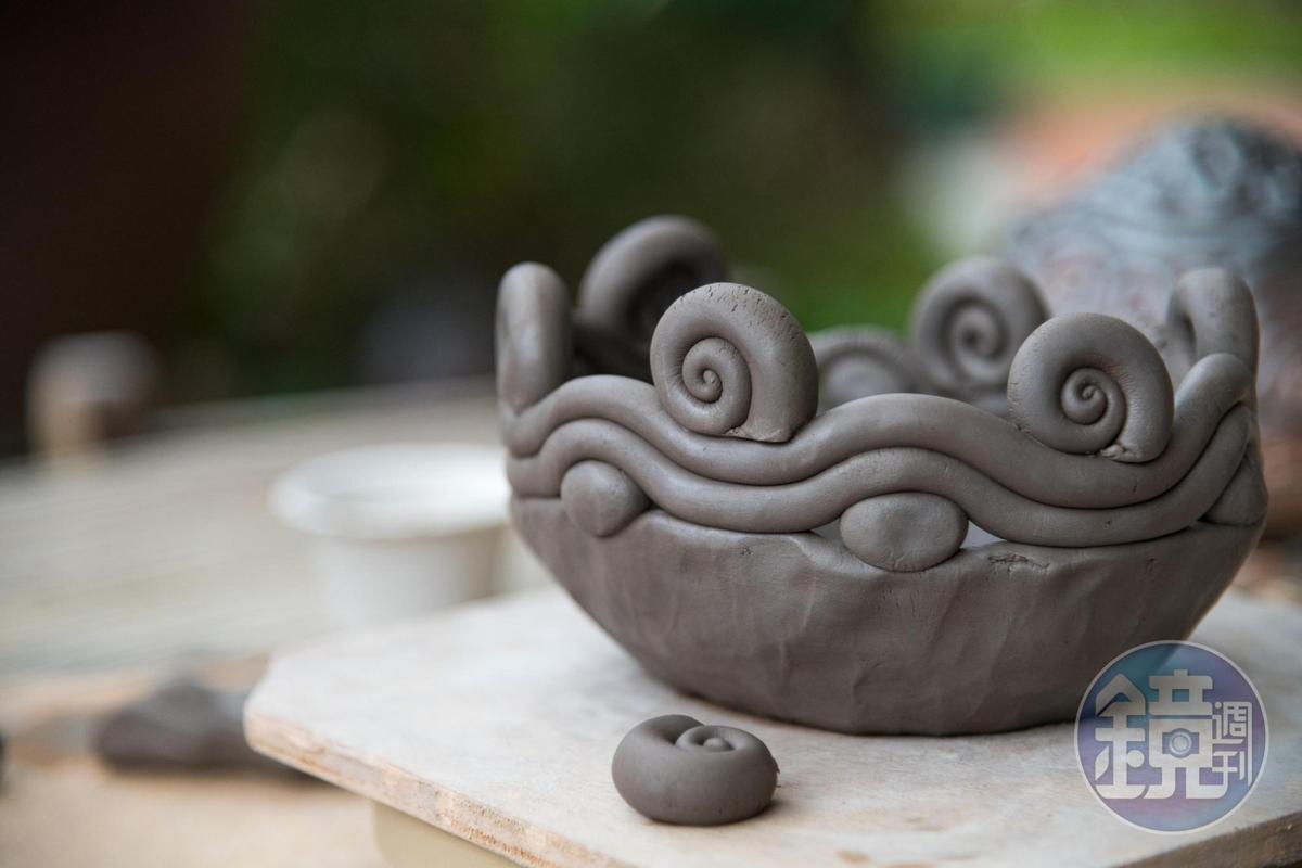 陶藝DIY的作品很實用。(500元/成人、400元/兒童)
