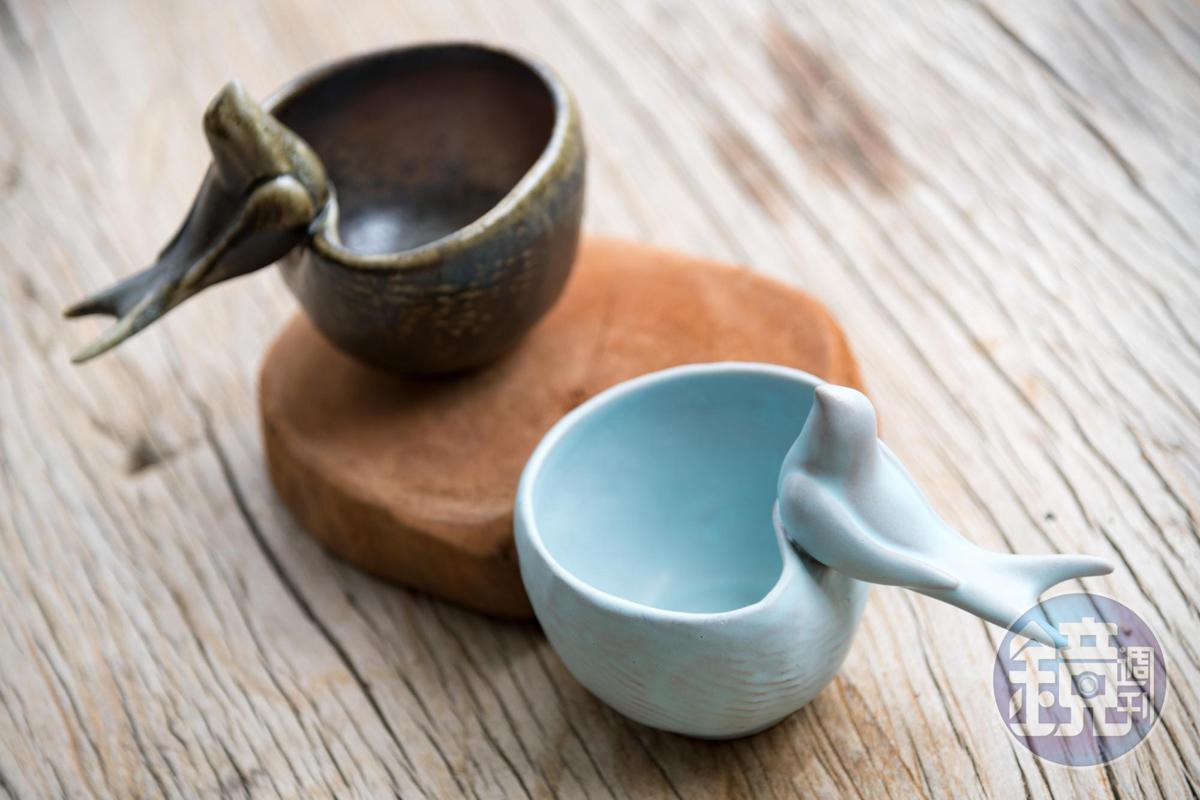 「燕回巢咖啡杯」就像是女兒回家的概念。