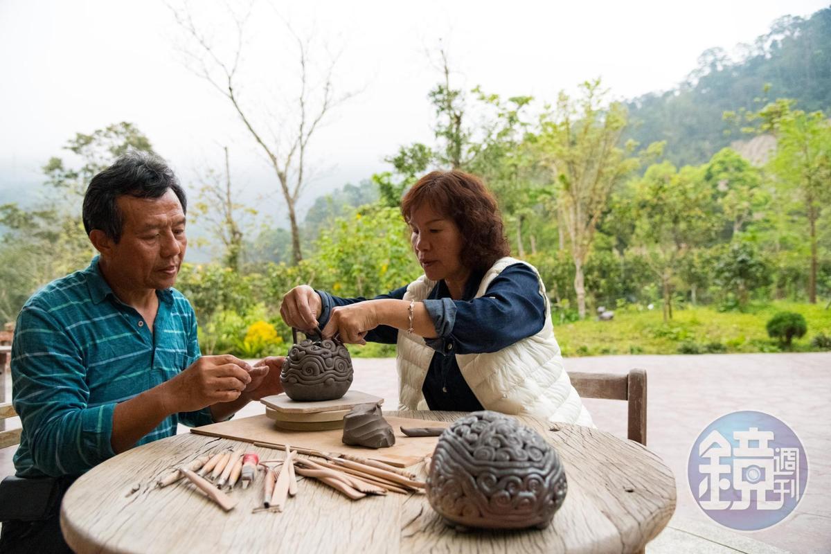 張鳳燕夫婦滿足於山居生活。