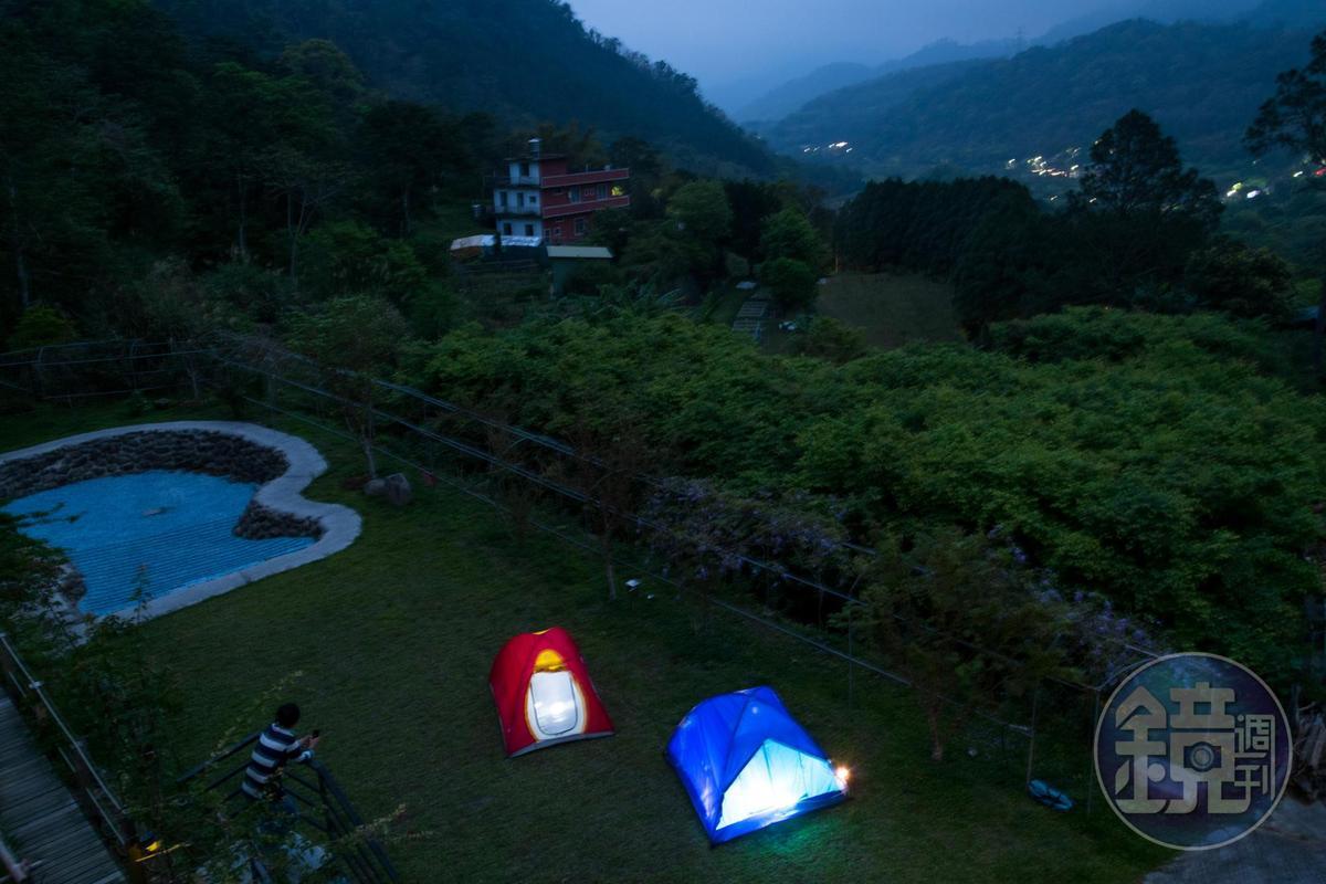 規劃一個區塊的露營區,滿足喜歡露營的遊客。