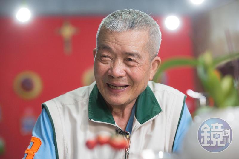 林玉泉笑談自己曾遇神明入夢的趣事。