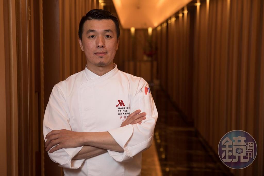 宴客樓主廚洪福龍把台菜解構重組,全面提升台菜規格。