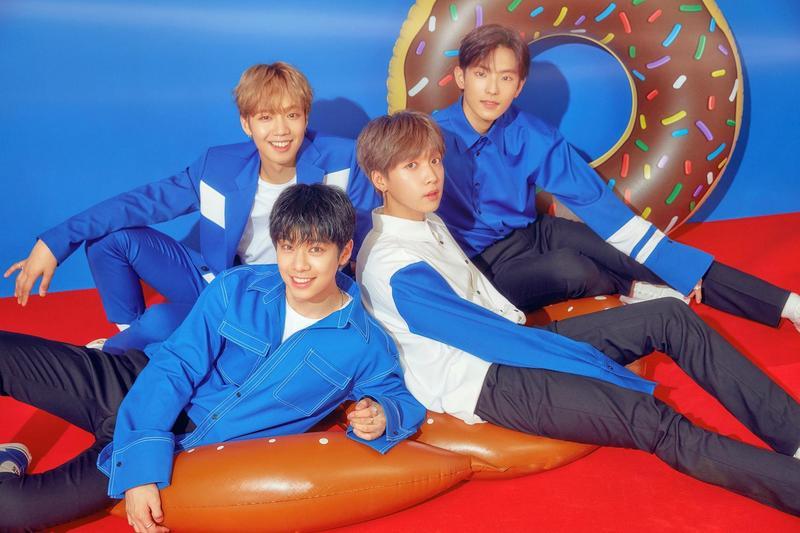 YDPP由林煐岷(左逆時針起)、金東賢、鄭世雲和李光賢組成限定團體,6月30將與台迷在台大體育館同歡。(BINGYOUNG娛樂 提供)