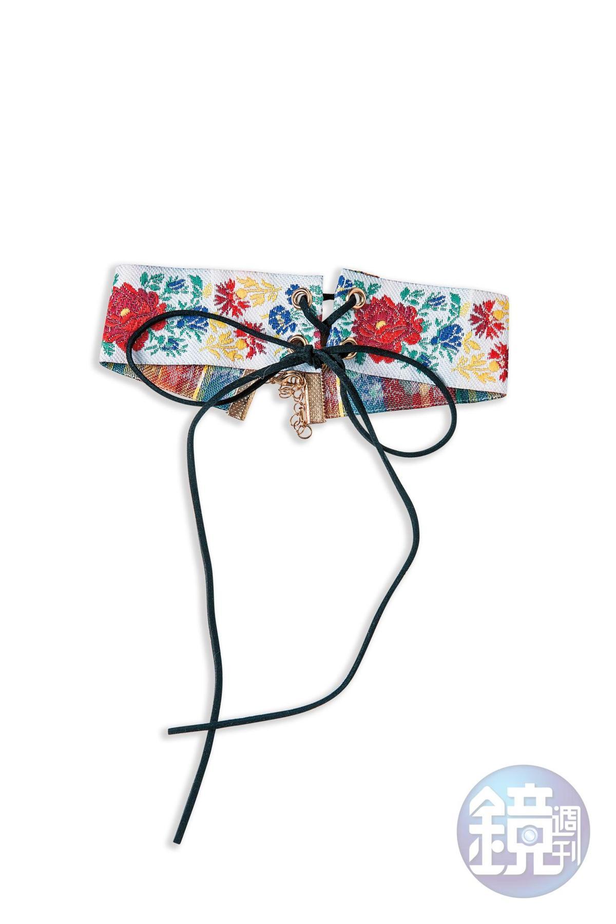 WEGO彩色花卉邱可頸鍊,朋友送的。