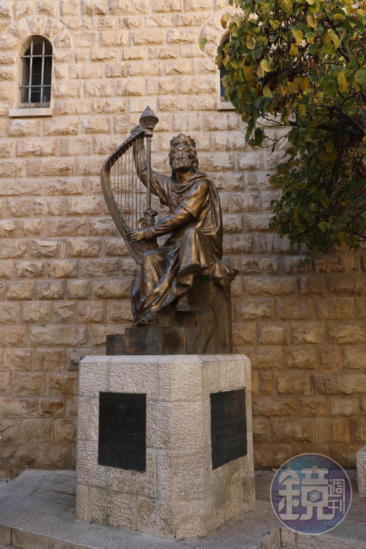 最後晚餐之地對面有一個大衛王雕像,當年為了避免信徒崇拜偶像,這個雕像的鼻子被削掉了。