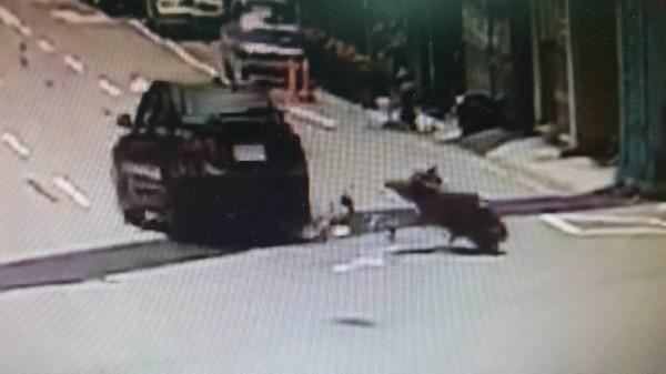 李女遭撞後捲入車底,遭轎車輾過,一屍兩命。(翻攝畫面)